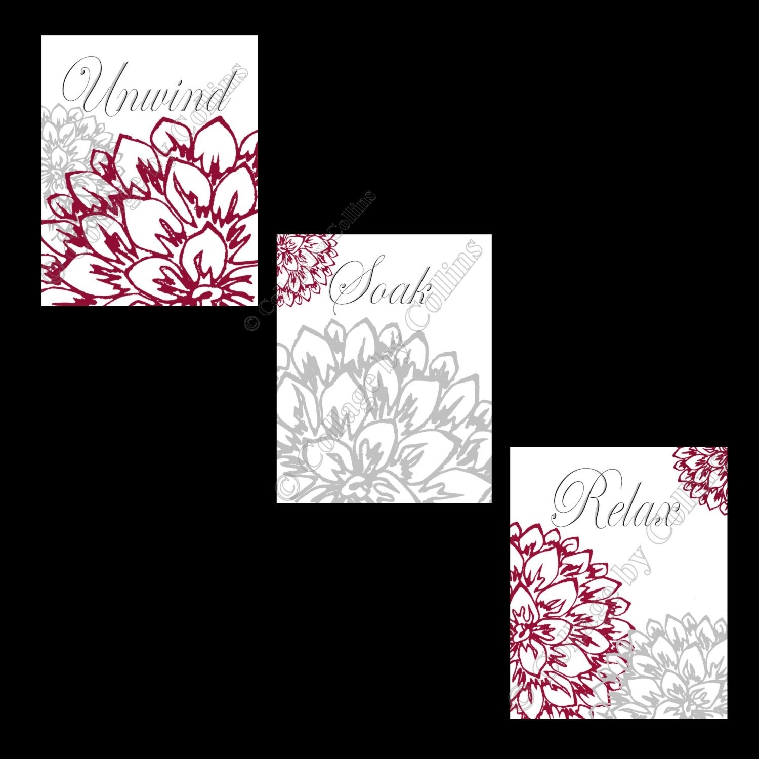Burgundy Wall Art – Elitflat With Burgundy Wall Art (View 8 of 20)