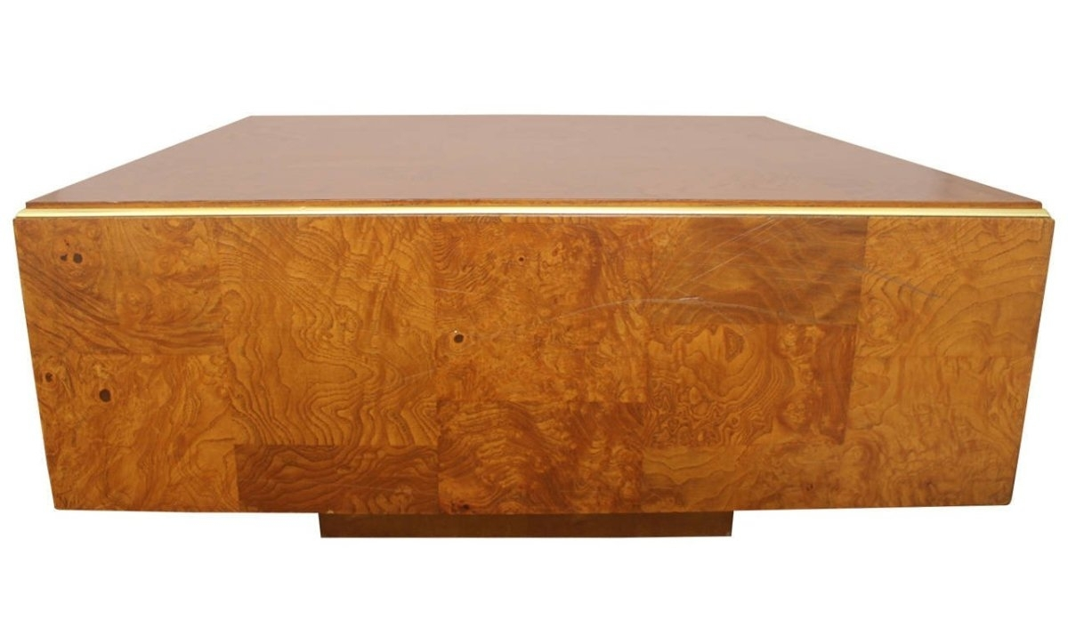 Burl Wood Veneer Coffee Table | Wooden Thing inside Oslo Burl Wood Veneer Coffee Tables (Image 10 of 30)