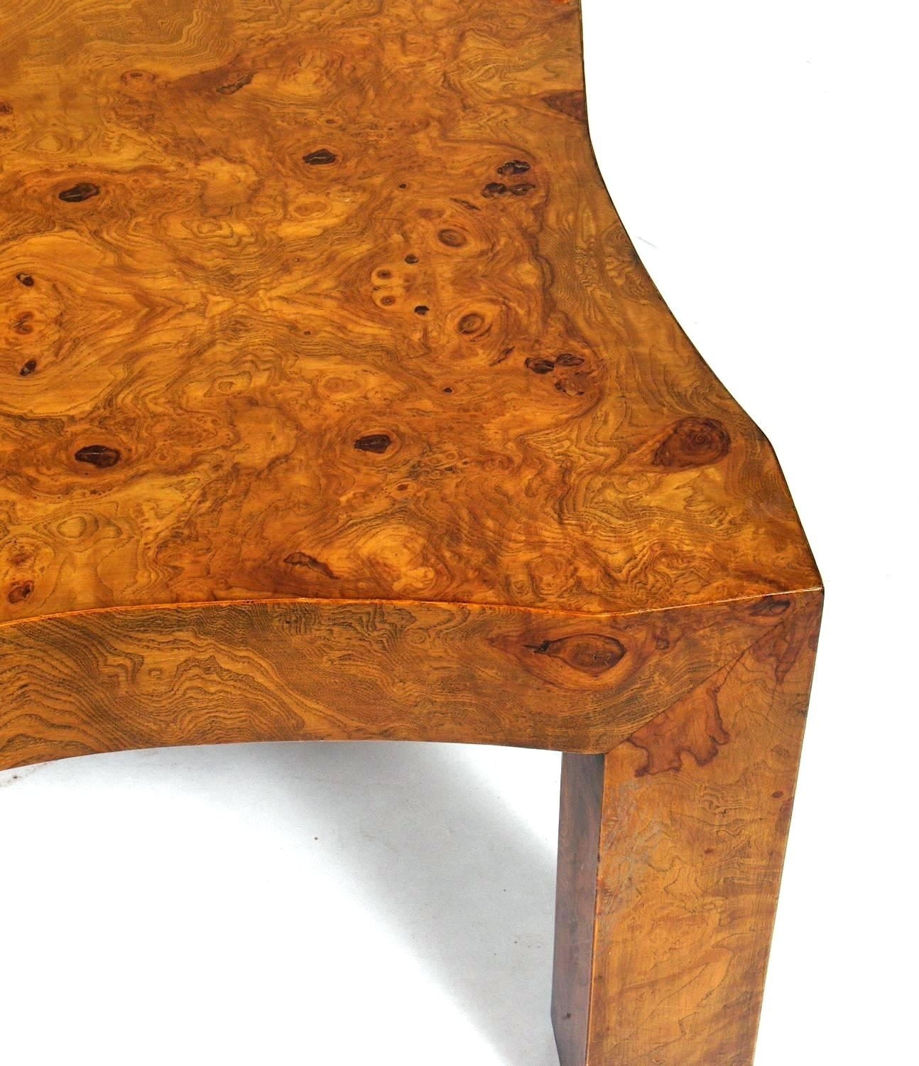 Burled Wood Coffee Table Wisteria Oslo Burl Wood Veneer Collection in Oslo Burl Wood Veneer Coffee Tables (Image 11 of 30)