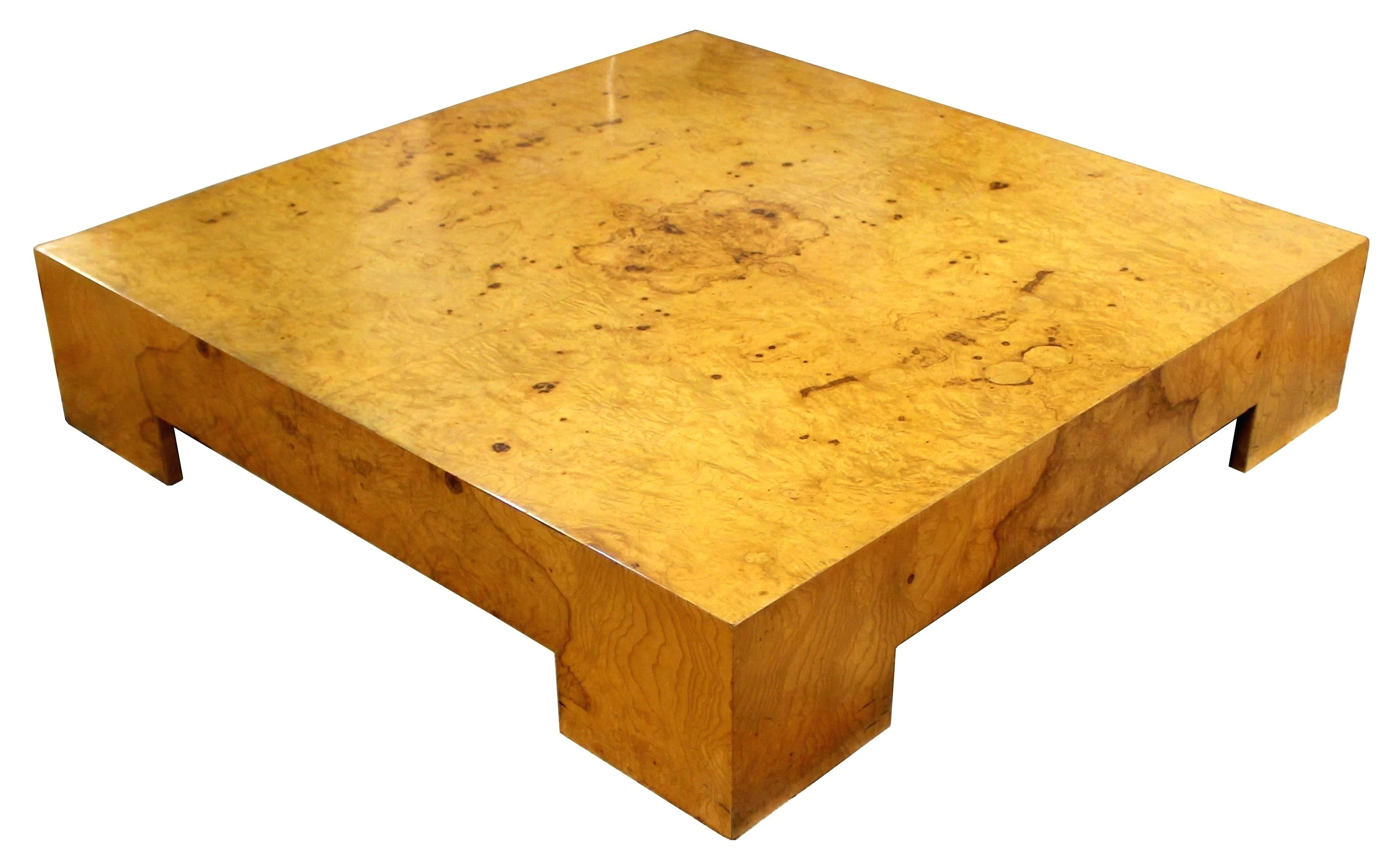 Burled Wood Coffee Table Wisteria Oslo Burl Wood Veneer Collection with regard to Oslo Burl Wood Veneer Coffee Tables (Image 13 of 30)