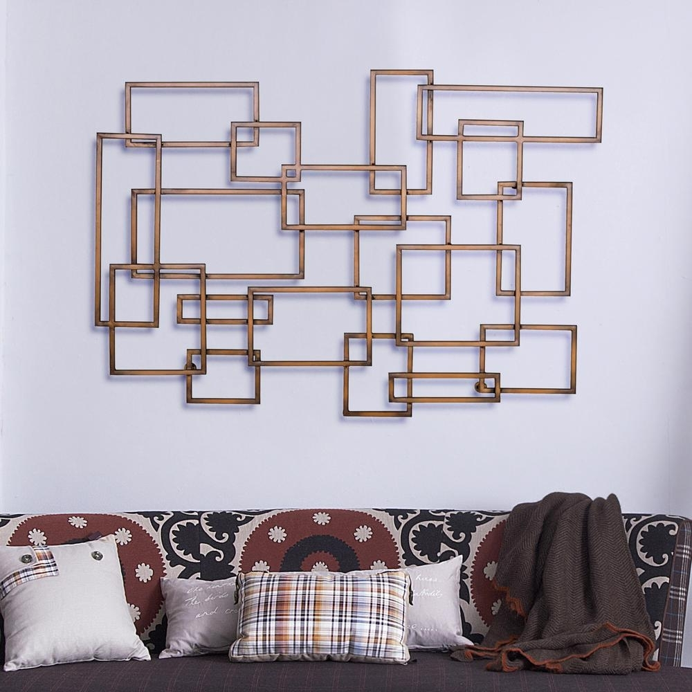 Burnished Copper Geometric Metal Work Wall Decor 2513 – The Home Depot In Geometric Metal Wall Art (View 2 of 20)