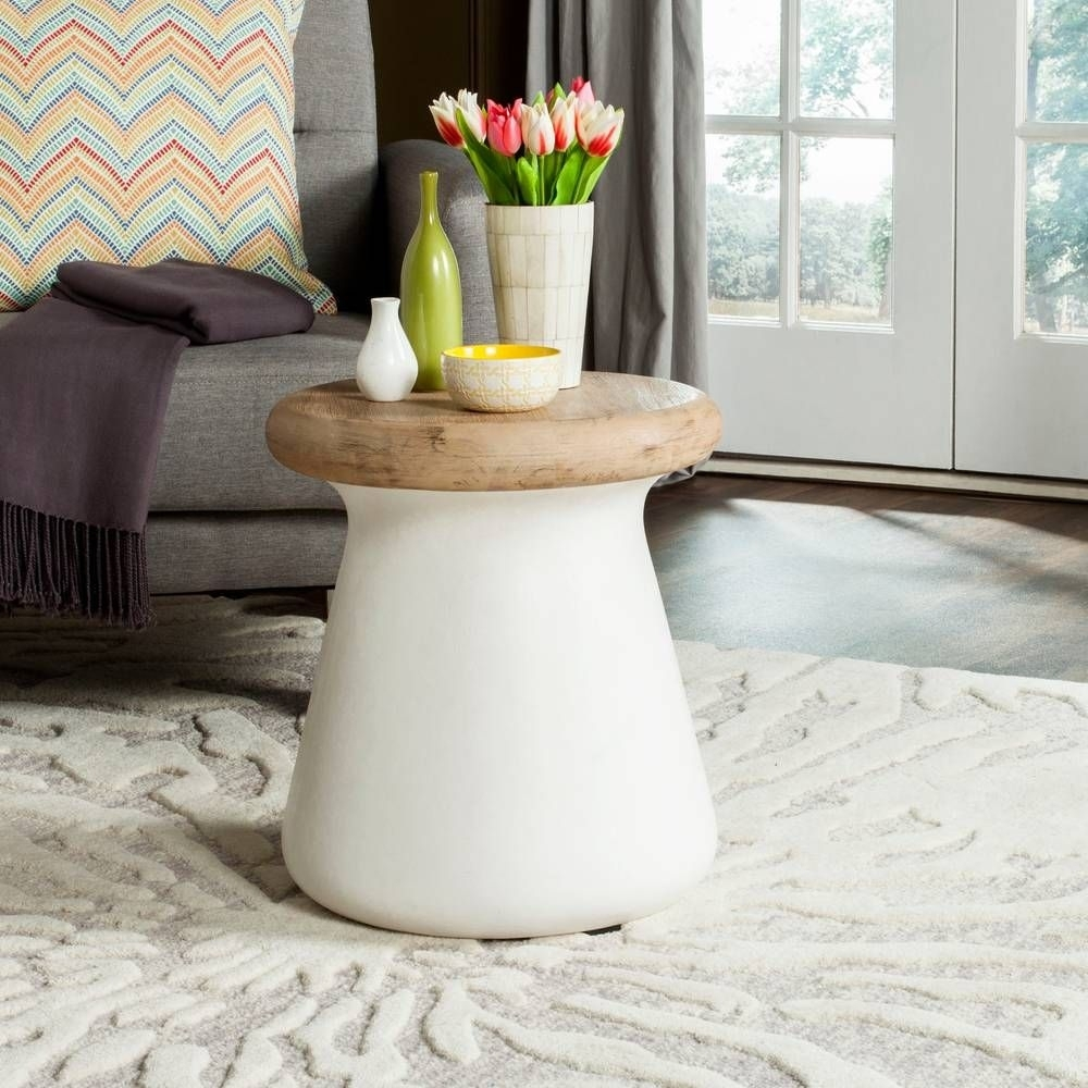 Button Accent Table | Concrete, Contemporary And Modern throughout Contemporary Curves Coffee Tables (Image 6 of 30)