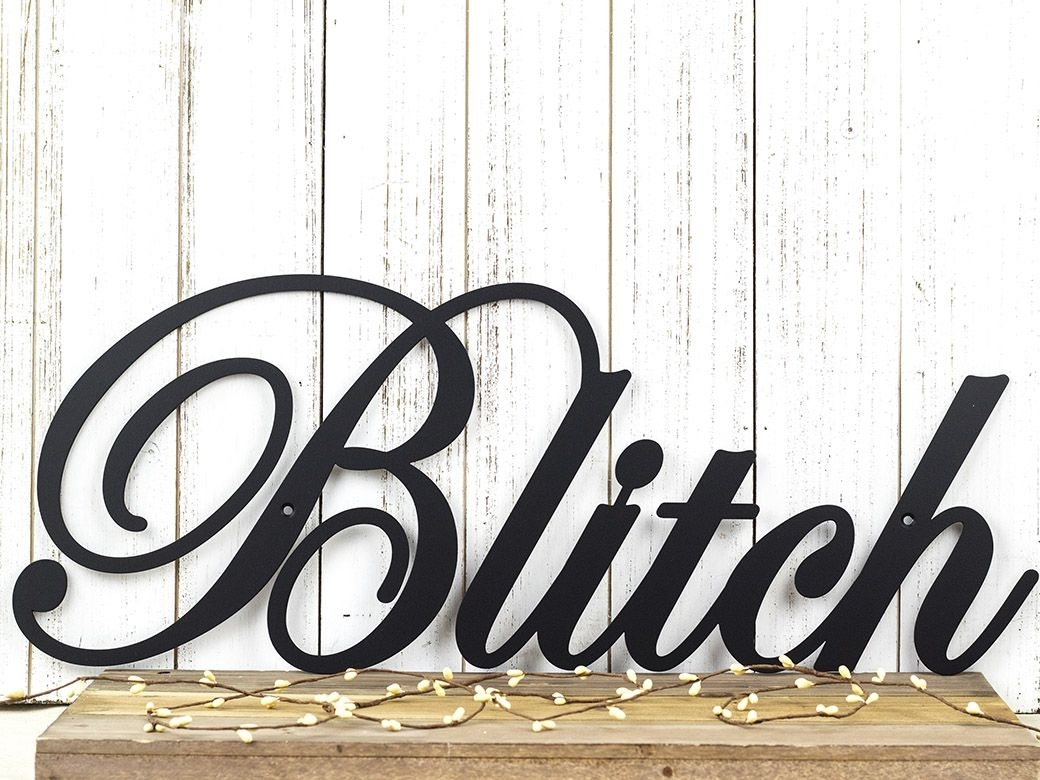 Buy A Hand Crafted Family Name Metal Sign | Family Last Name Sign Regarding Family Name Wall Art (View 15 of 20)