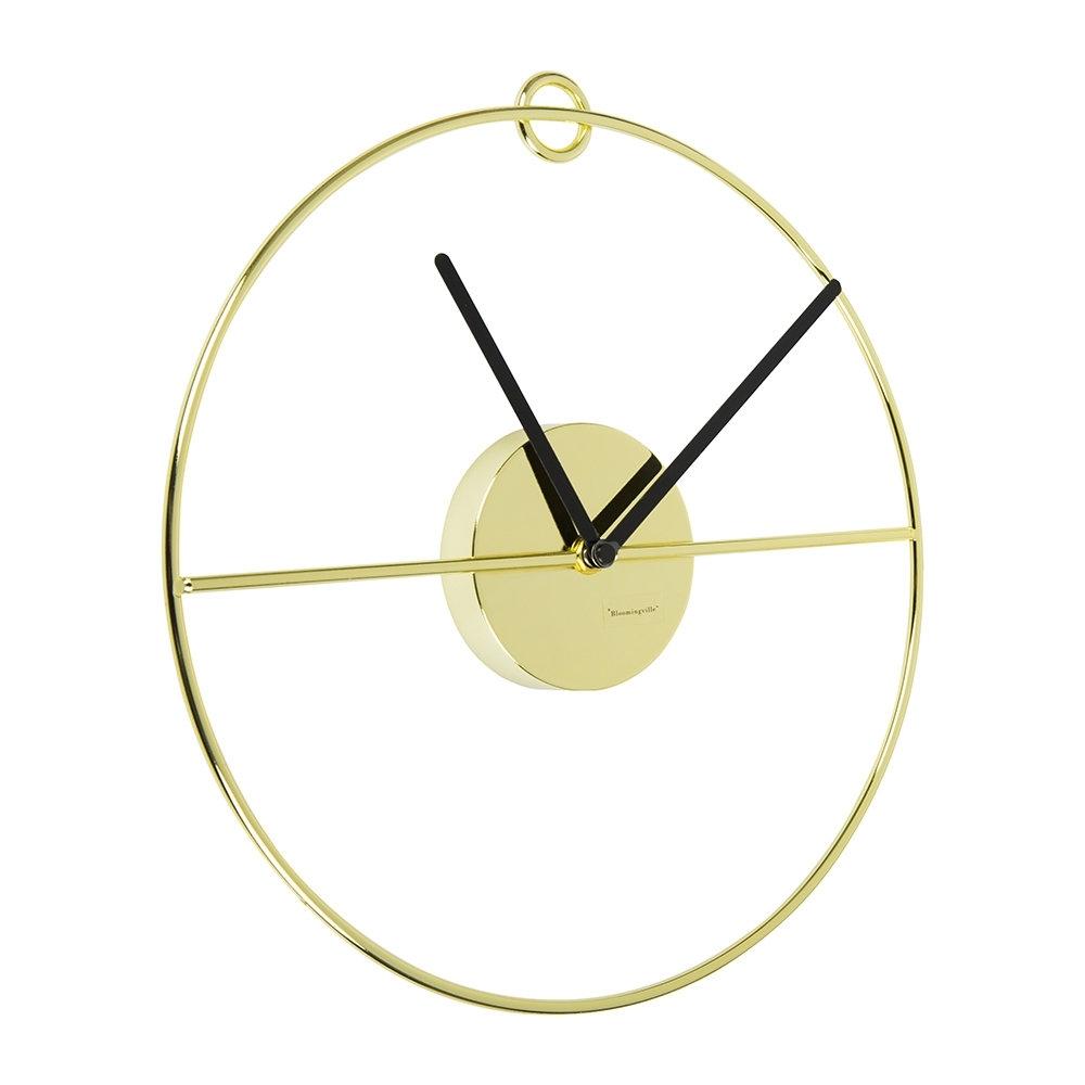 Buy Bloomingville Art Deco Wall Clock - Gold/black | Amara with regard to Art Deco Wall Clock (Image 10 of 20)