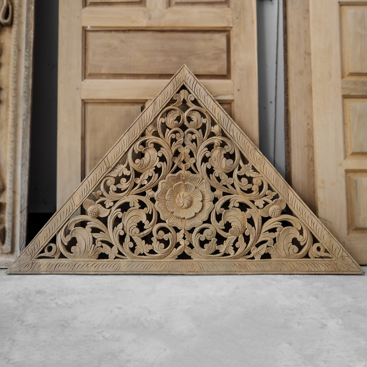 Buy Carved Bed Panel Oriental Wall Art Decor, Carved Wood Headboard Pertaining To Oriental Wall Art (View 5 of 20)