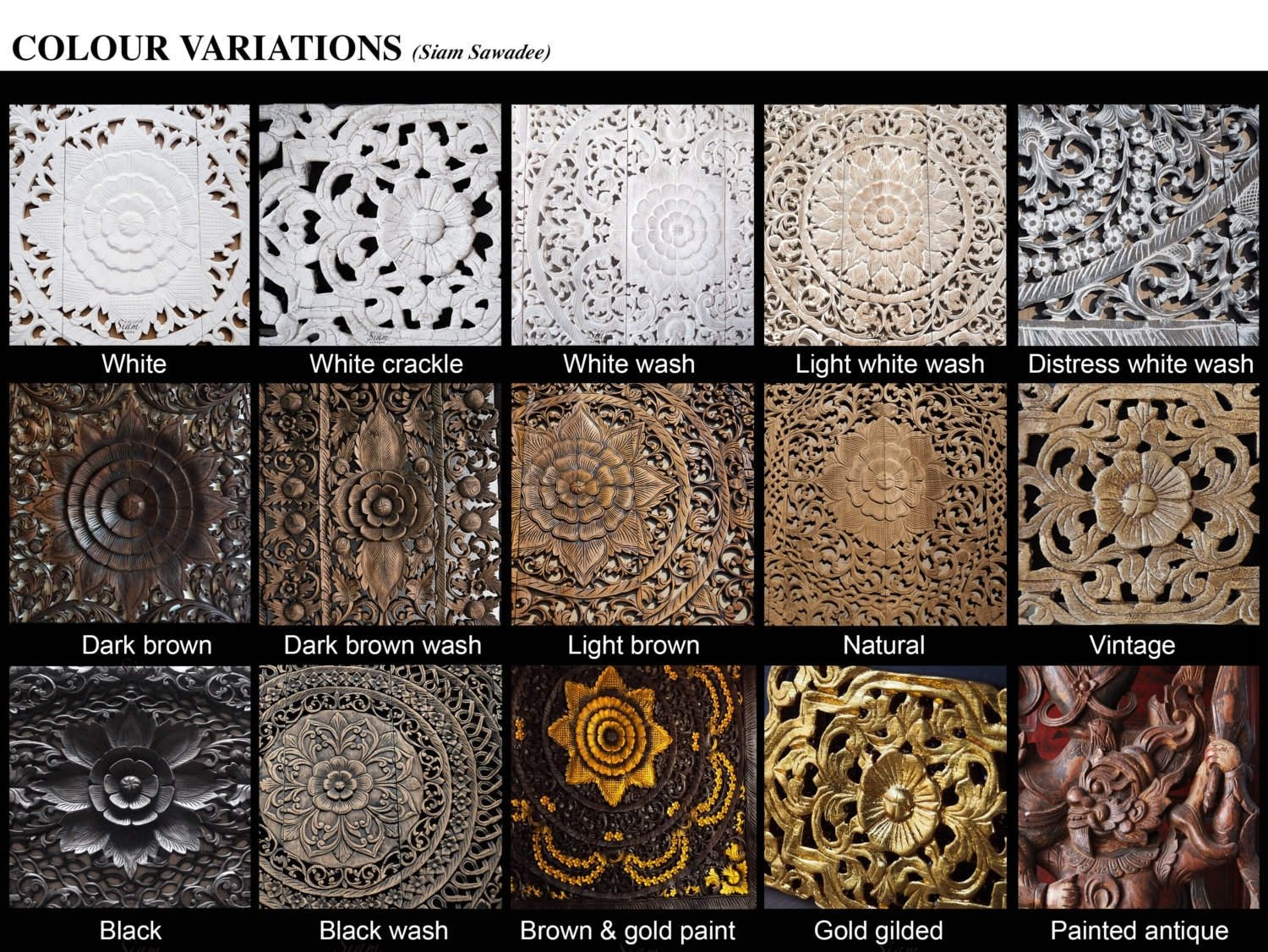 Buy Floral Carved Wooden Wall Art Panel Online Pertaining To Wood Carved Wall Art (View 5 of 20)