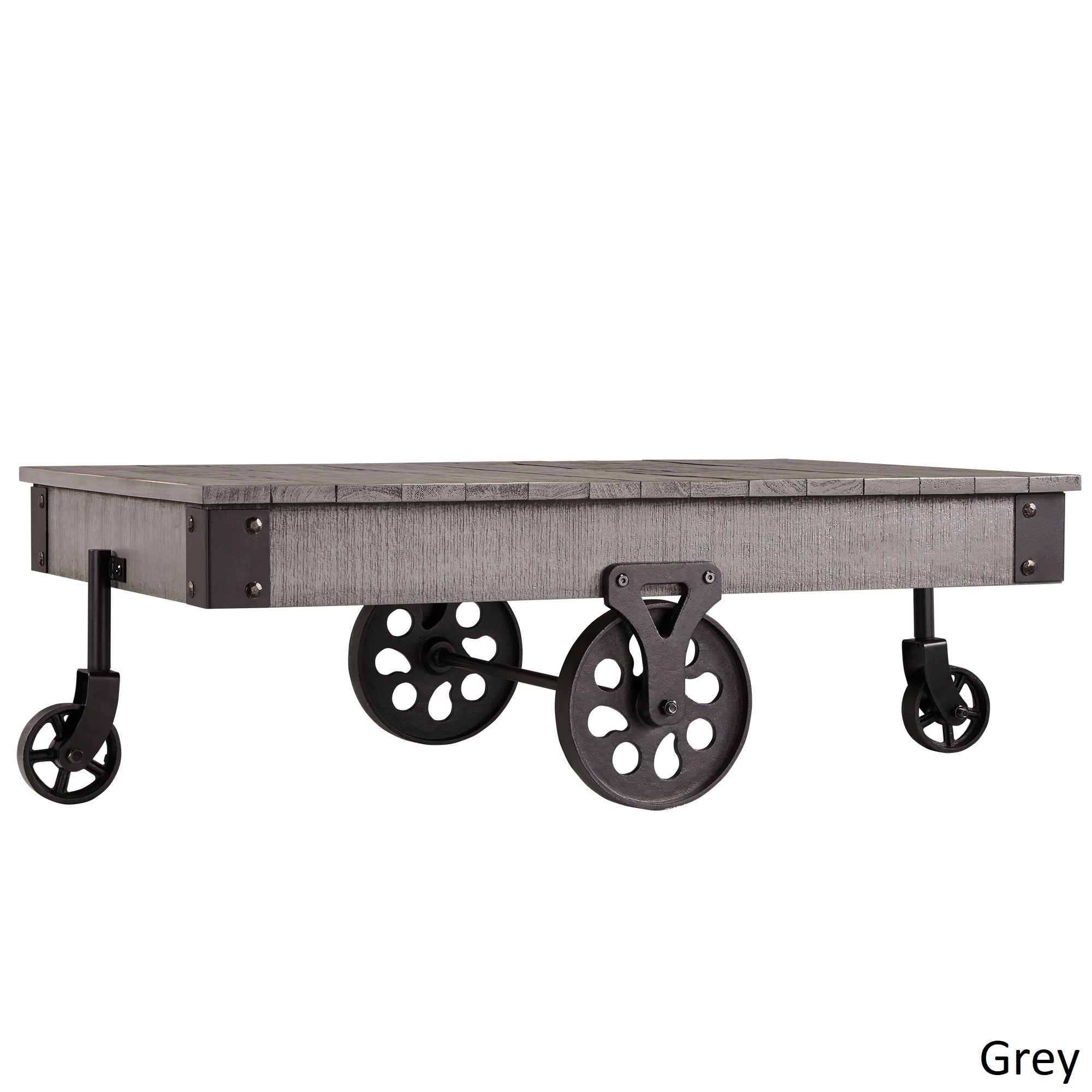 Buy Grey Coffee, Console, Sofa & End Tables Online At Overstock with Go-Cart White Rolling Coffee Tables (Image 7 of 30)