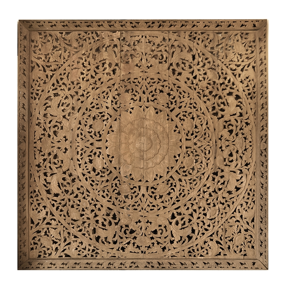 Buy Large Grand Carved Wooden Wall Art Or Ceiling Panel Online inside Carved Wood Wall Art (Image 5 of 20)