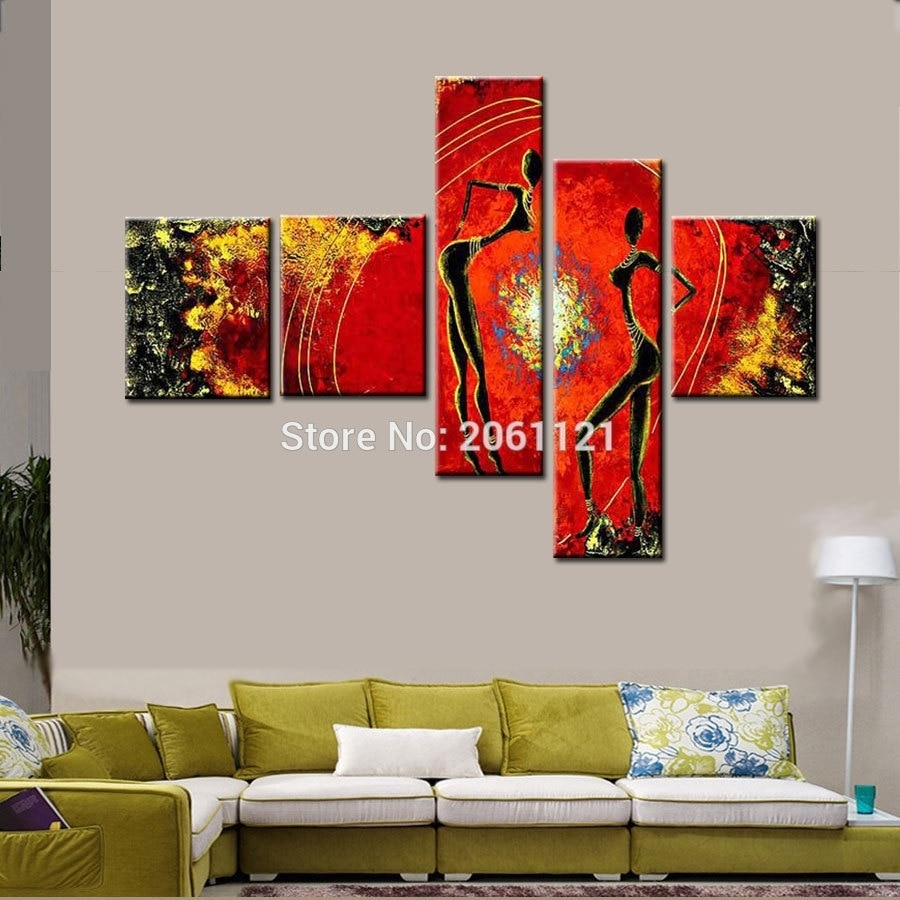 Buy Multi Panel Wall Art Canvas And Get Free Shipping On Aliexpress regarding Multi Panel Wall Art (Image 7 of 20)