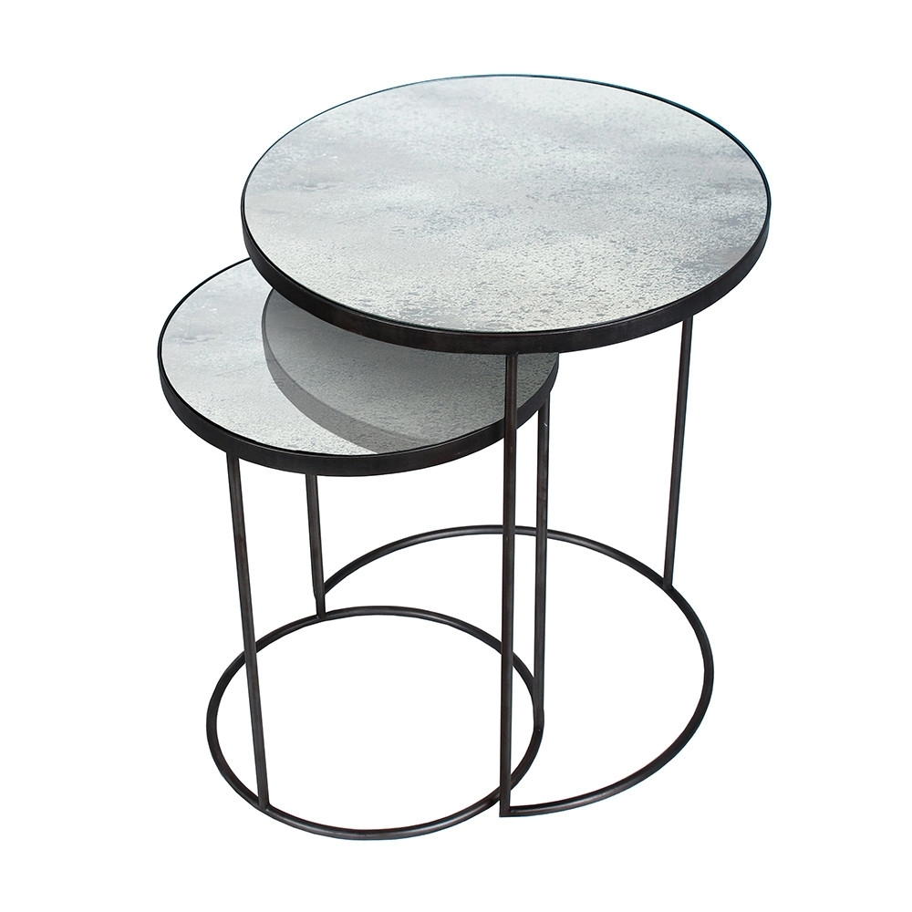 Buy Notre Monde Nesting Side Table Set | Amara with Set of Nesting Coffee Tables (Image 8 of 30)