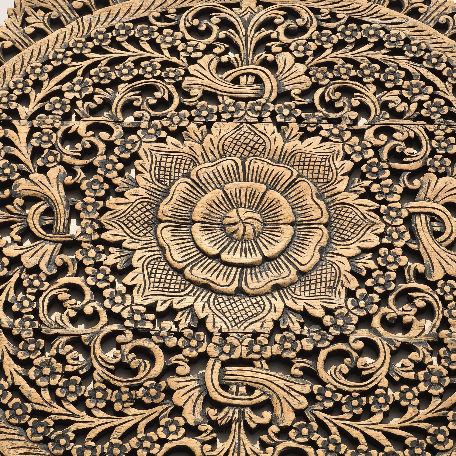 Buy Rustic Carved Wall Art Panel Asian Home Decor Online with Asian Wall Art (Image 10 of 20)