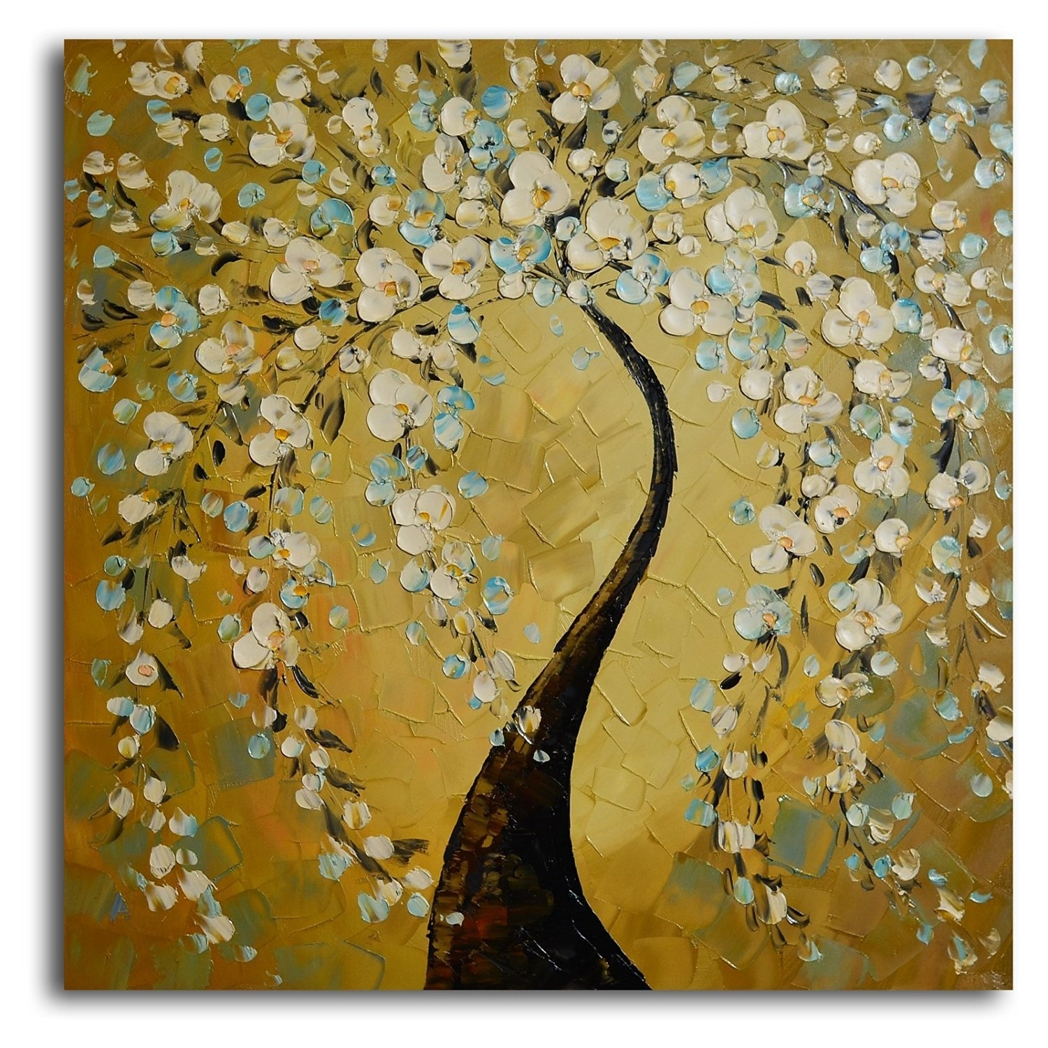 Buy Tjie Art Hand Painted Mordern Oil Paintings,shimmering Bow Oil within Wall Art Paintings (Image 12 of 20)
