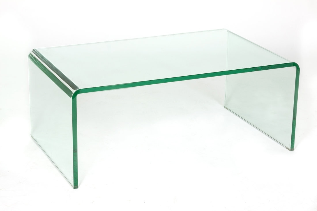 C2A Designs Waterfall Glass Coffee Table | Wayfair regarding Square Waterfall Coffee Tables (Image 3 of 30)