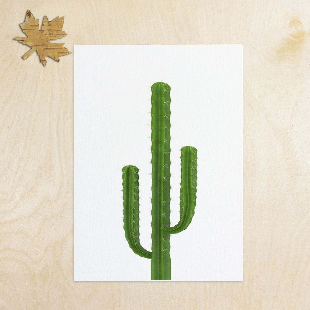 Cactus Inspiration Art Print Wall Art Flower Home Decor Cactus Art with Cactus Wall Art (Image 5 of 20)