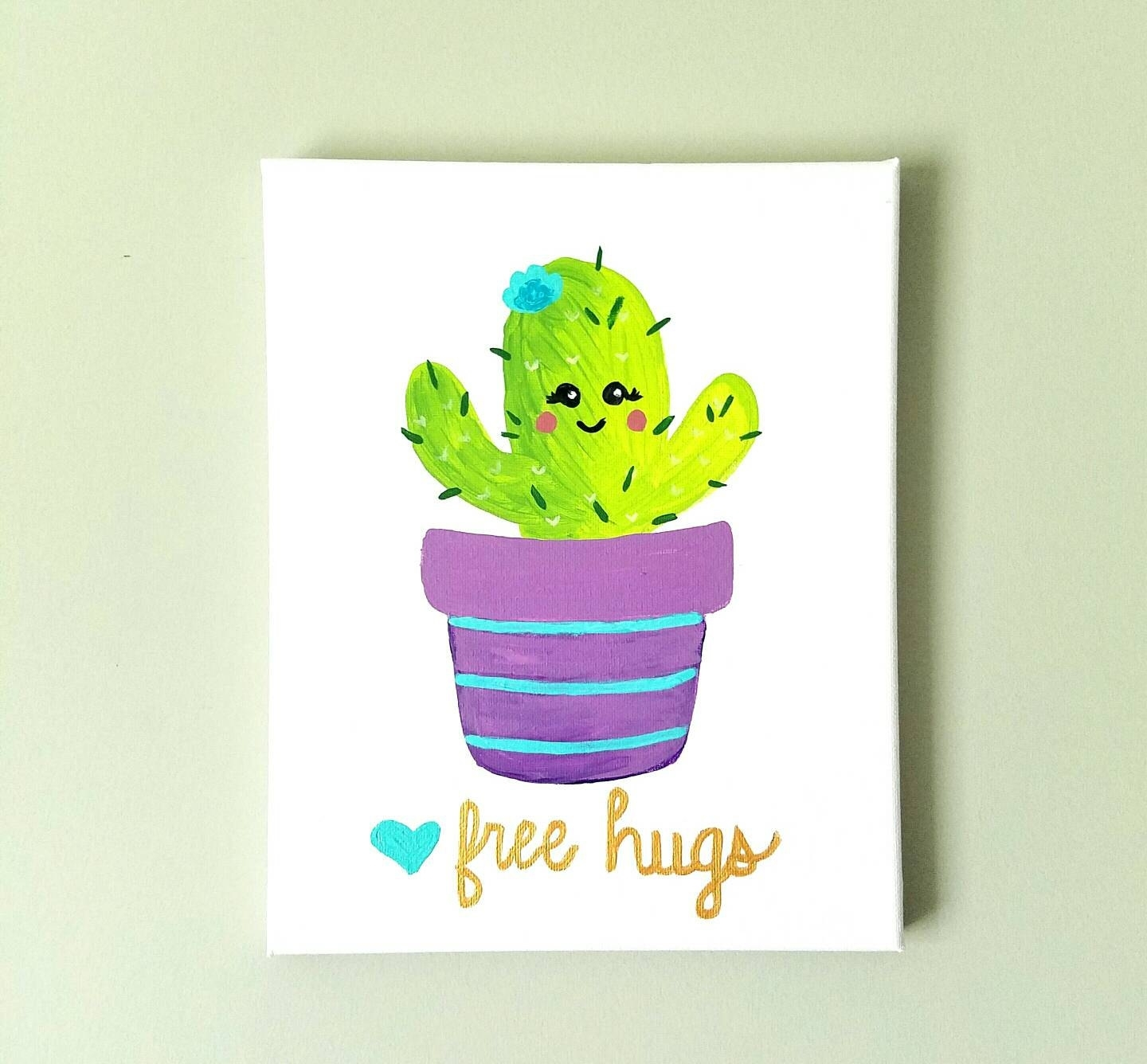 Cactus Wall Art Baby Girl Decor Girls Nursery Decor Baby | Etsy throughout Cactus Wall Art (Image 7 of 20)