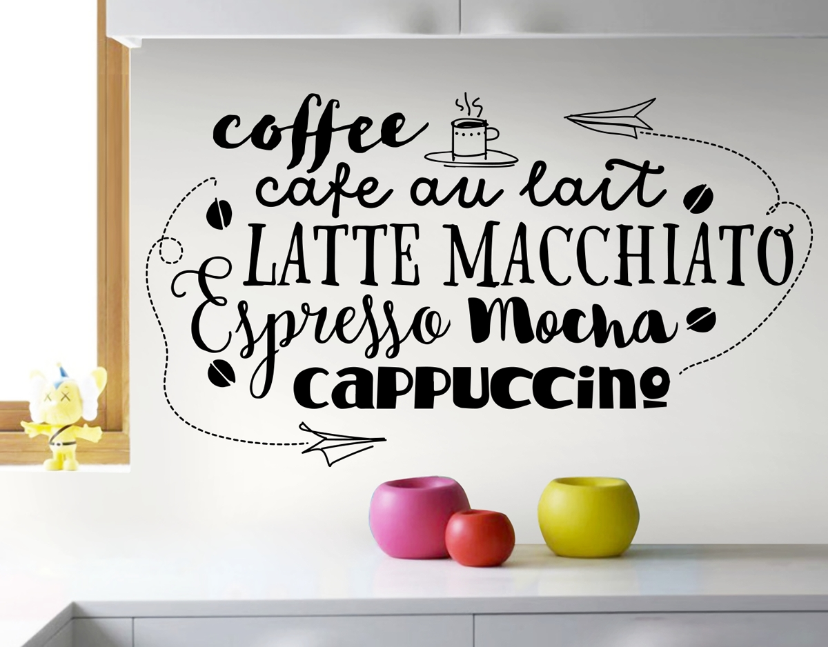 Cafe Style Coffee – Your Decal Shop | Nz Designer Wall Art Decals pertaining to Coffee Wall Art (Image 5 of 20)