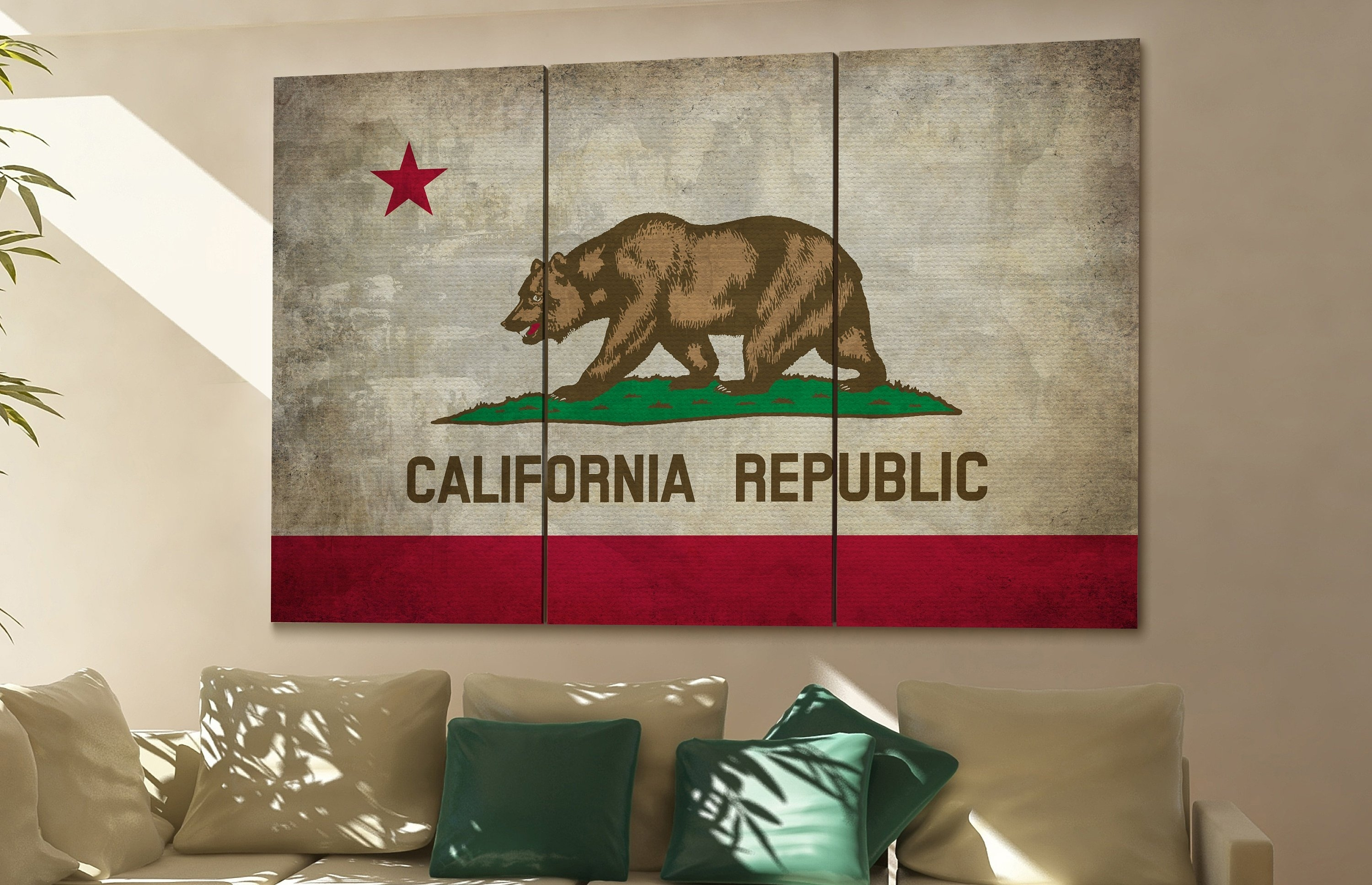 California State Flag California Flag State Of California California intended for California Wall Art (Image 11 of 20)