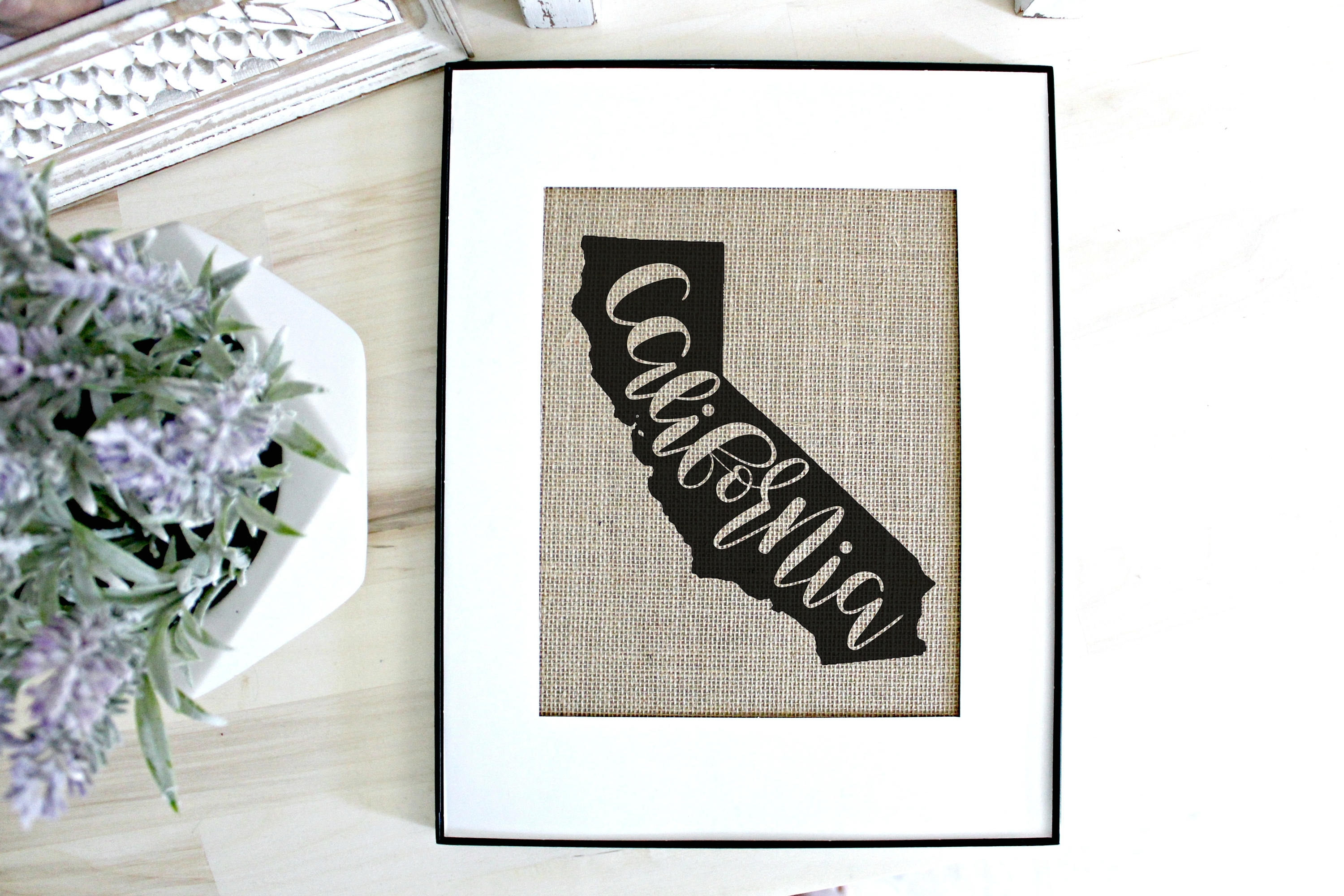 California Wall Art California Map California Print | Etsy for California Wall Art (Image 13 of 20)