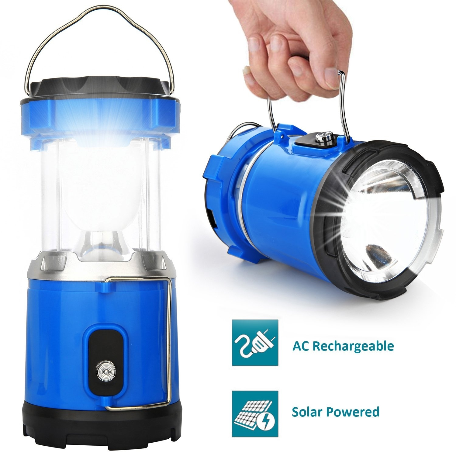 Camping Lantern Light, Iruiyingo Rechargeable Lamp Solar Led Intended For Outdoor Rechargeable Lanterns (View 6 of 20)