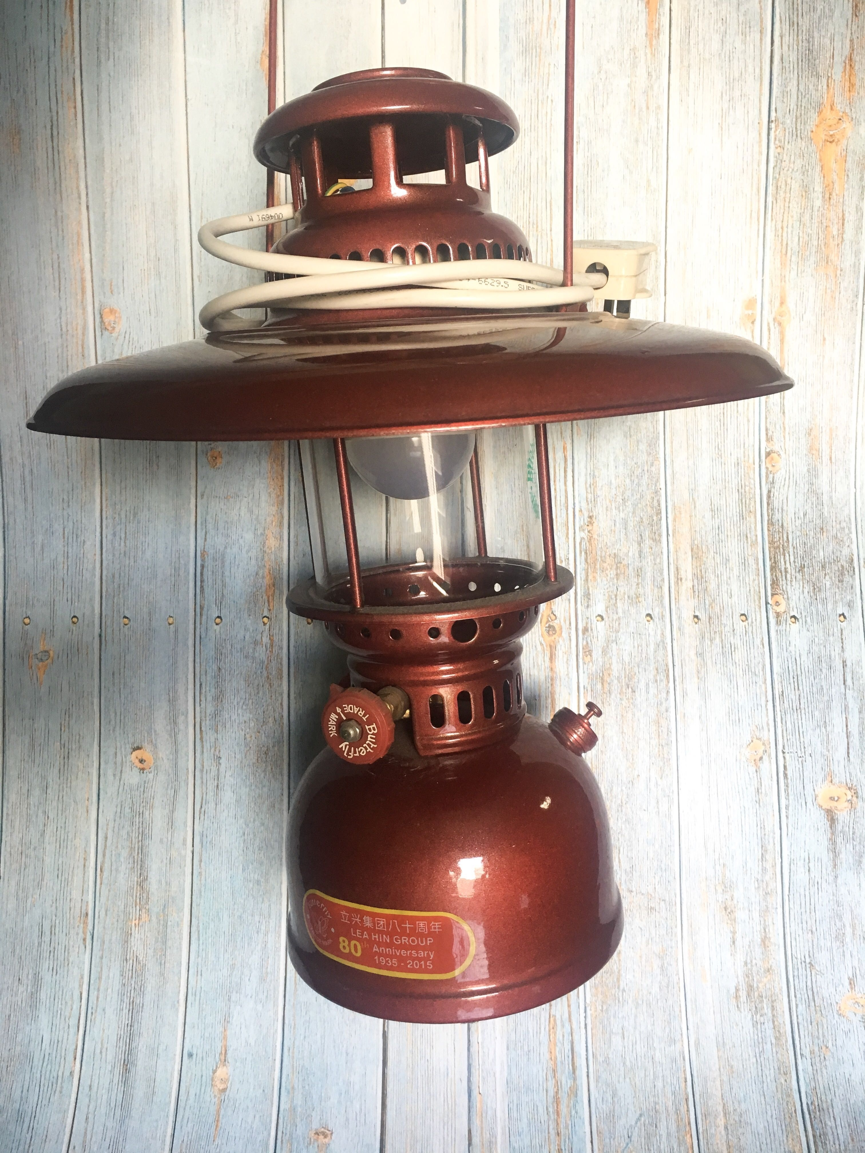 Can Nego* Vintage Kerosene Lamp Maroon Antique With Led Light Bulb in Decorative Outdoor Kerosene Lanterns (Image 6 of 20)