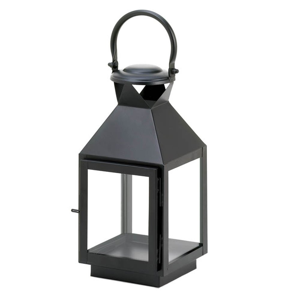 Candle Lantern Decor, Iron Outdoor Rustic Decorative Black Candle intended for Outdoor Rustic Lanterns (Image 3 of 20)