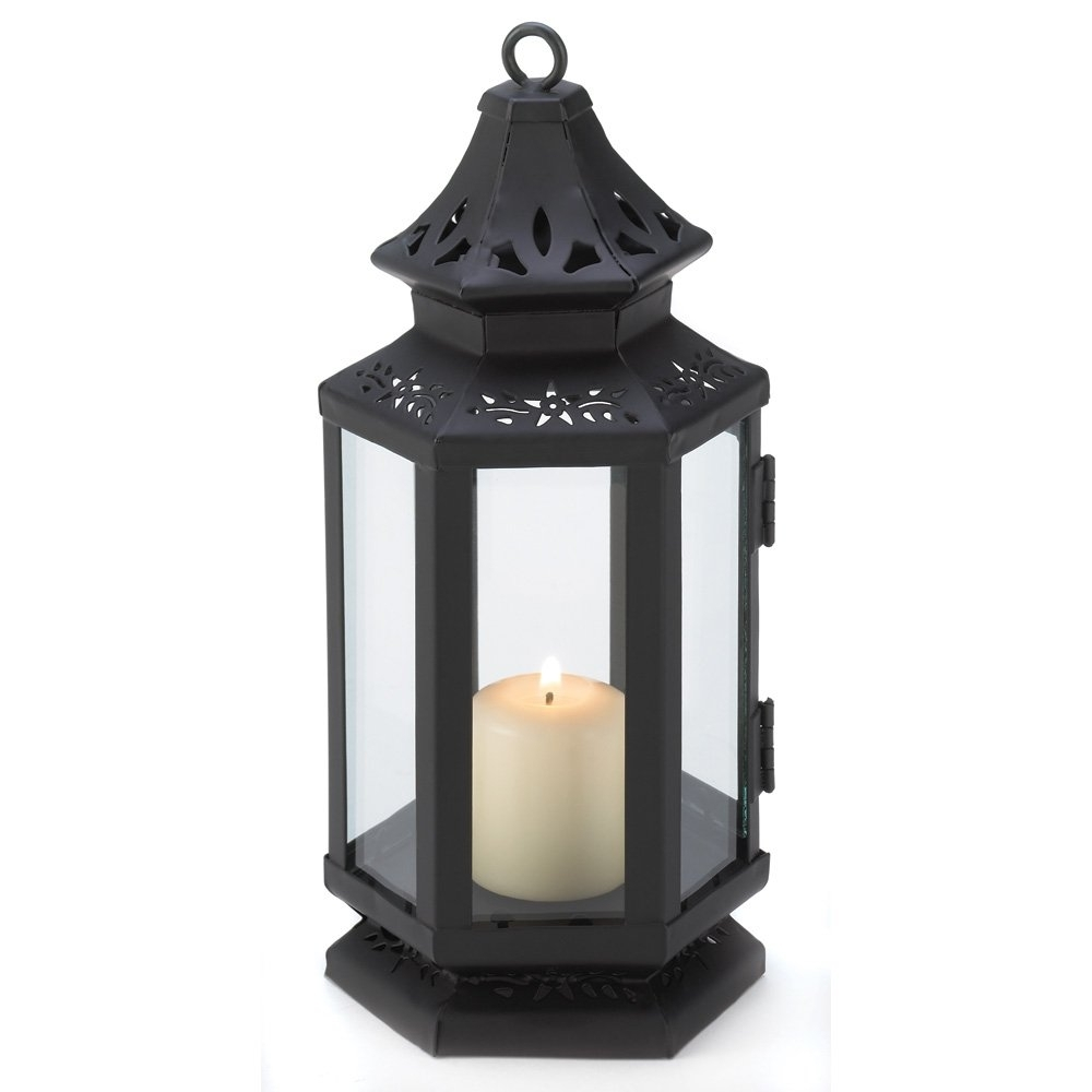 Candle Lantern Decor, Small Iron Stagecoach Outdoor Metal Candle pertaining to Outdoor Lanterns With Candles (Image 3 of 20)