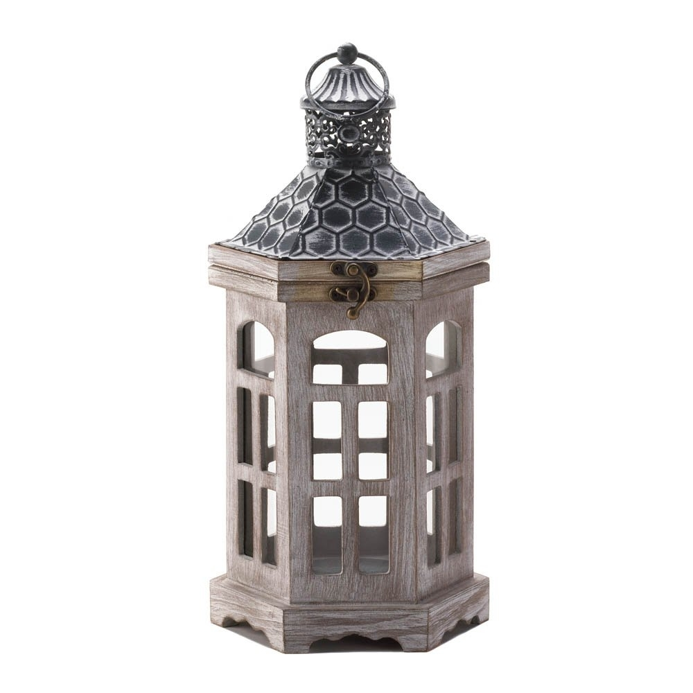 Candle Lantern Wood, Hanging Outdoor Lanterns For Candles - Pine with Outdoor Lanterns And Votives (Image 5 of 20)