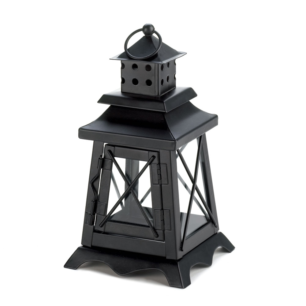 Candle Lanterns Decorative, Black Metal Hanging Candle Lantern For for Outdoor Lanterns With Flameless Candles (Image 4 of 20)