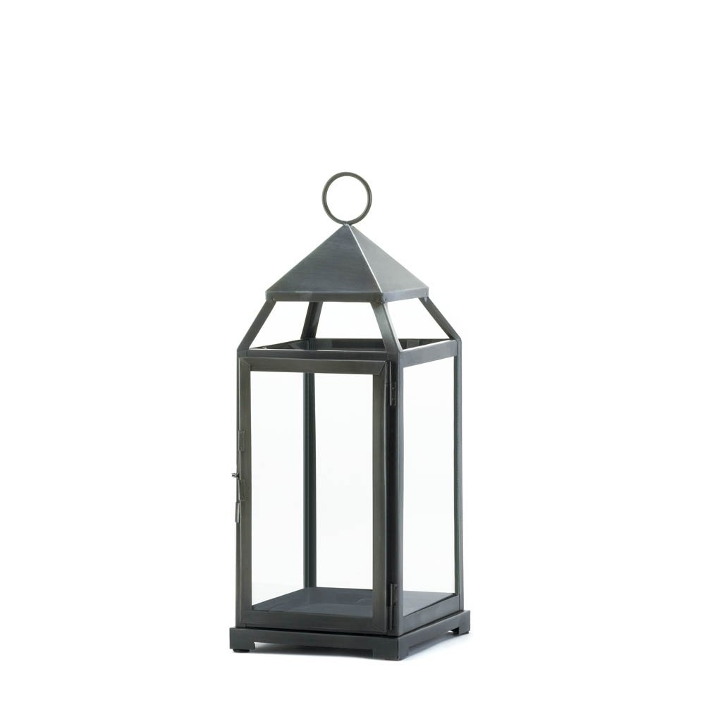 Candle Lanterns Decorative, Rustic Metal Outdoor Lanterns For regarding Outdoor Iron Lanterns (Image 4 of 20)