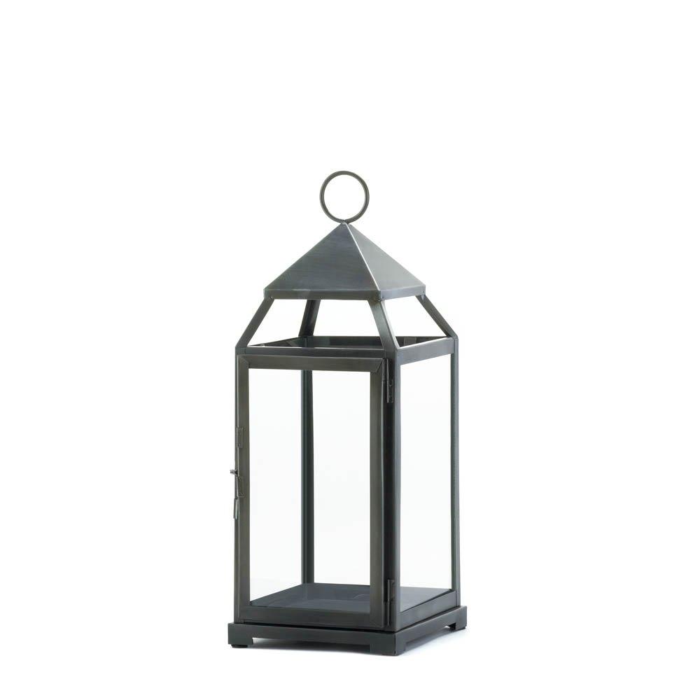 Candle Lanterns Decorative, Rustic Metal Outdoor Lanterns For Within Metal Outdoor Lanterns (View 5 of 20)