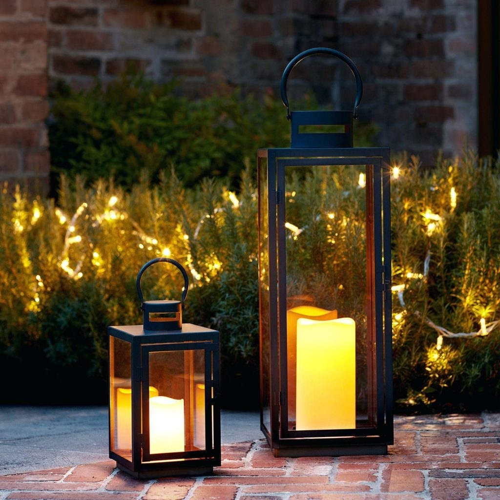 Candles ~ Garden Candle Lantern Black Metal Outdoor Lanterns S intended for Outdoor Lanterns And Candles (Image 6 of 20)