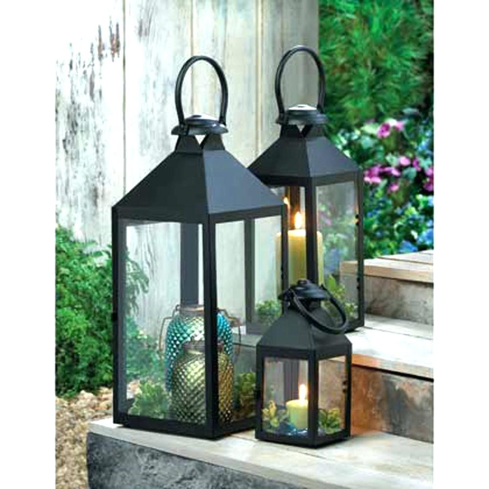 Candles ~ Large Garden Candle Lanterns Wholesale Lantern Cheap With Metal Outdoor Lanterns (View 9 of 20)