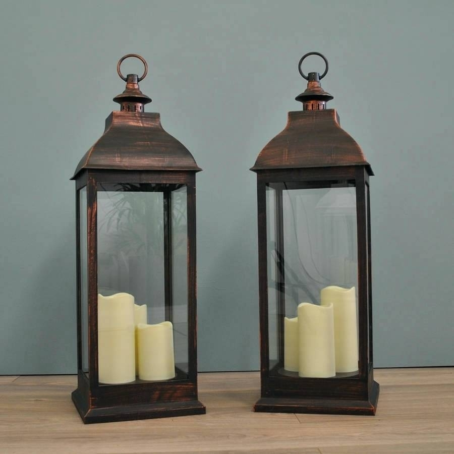Candles ~ Outdoor Lantern Candle Holders Full Image For Big 3 Wick with regard to Outdoor Big Lanterns (Image 5 of 20)