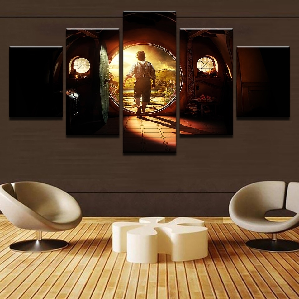 Canvas Pictures Home Decor Wall Art 5 Pieces Lord Of The Rings throughout Lord of the Rings Wall Art (Image 3 of 20)