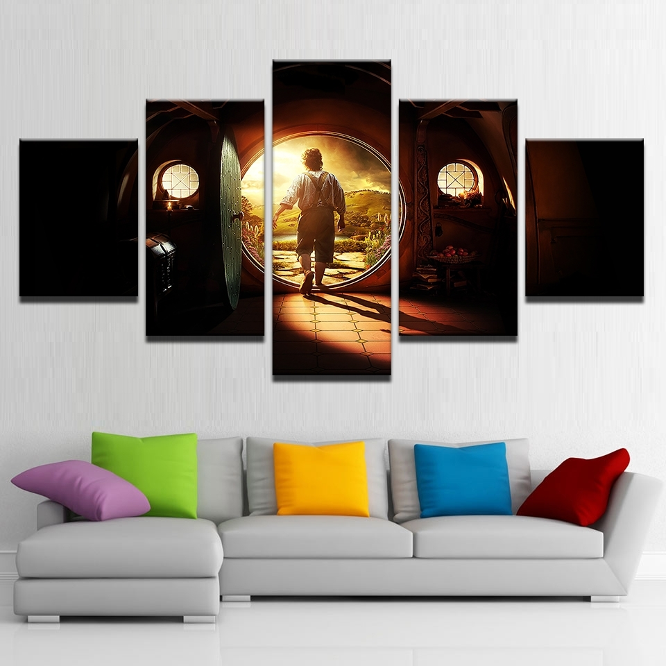 Canvas Pictures Home Decor Wall Art 5 Pieces Lord Of The Rings with regard to 5 Piece Wall Art (Image 12 of 20)