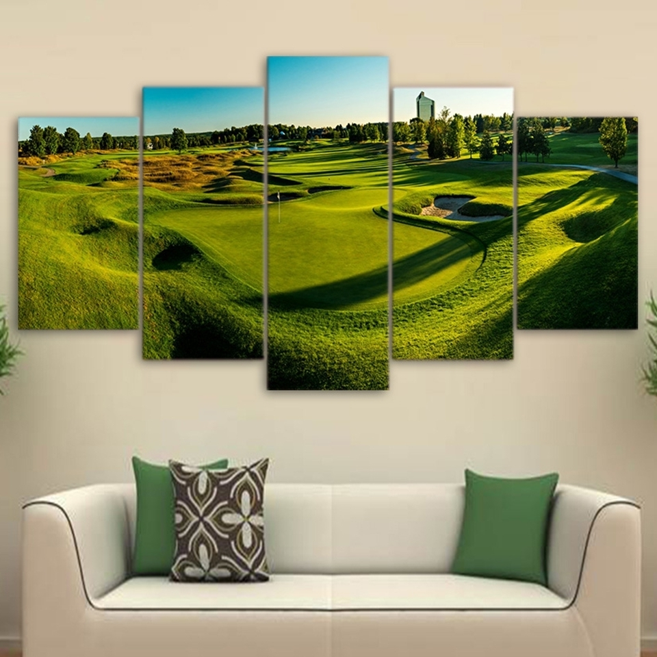 Canvas Poster Wall Art Frame Hd Printed Photo Modern Living Room With Golf Canvas Wall Art (View 18 of 20)