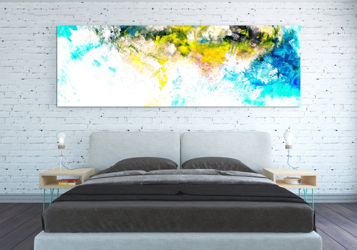 Canvas Print Abstract Wall Art Work Horizontal Poster Abstract in Abstract Oversized Canvas Wall Art (Image 5 of 20)