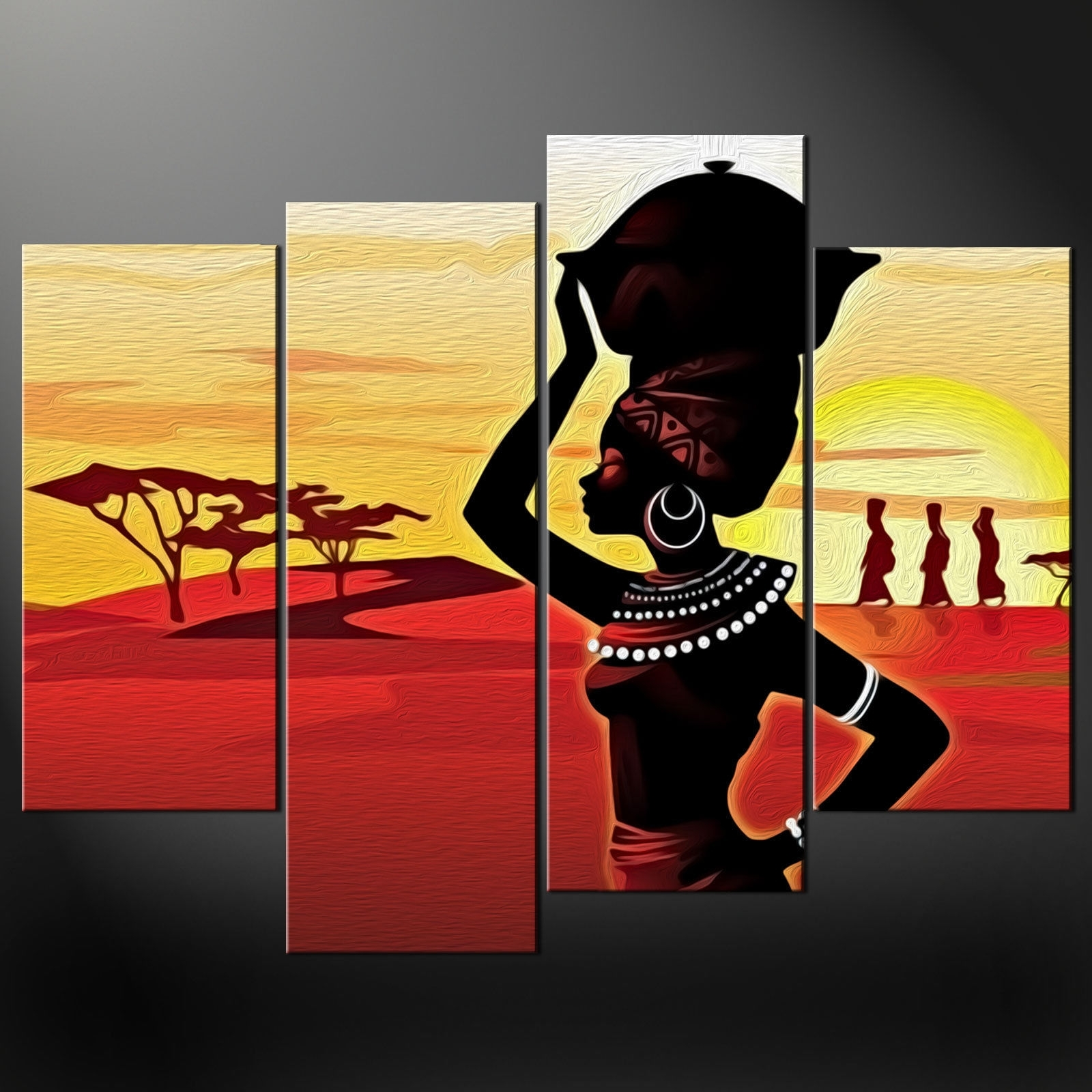 Canvas Print Picture Wall Art in African Wall Art (Image 10 of 20)