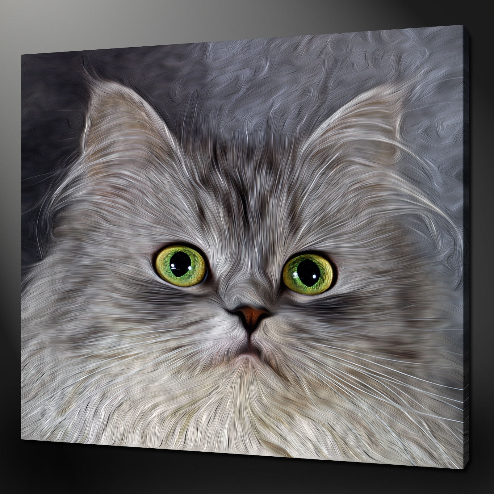 Canvas Print Pictures. High Quality, Handmade, Free Next Day Delivery. for Cat Canvas Wall Art (Image 6 of 20)