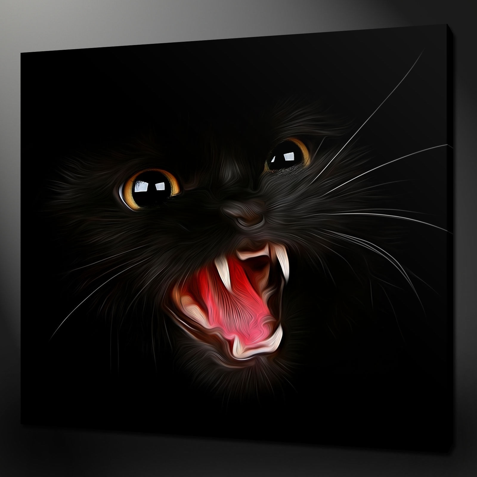 Canvas Print Pictures. High Quality, Handmade, Free Next Day Delivery. intended for Cat Canvas Wall Art (Image 8 of 20)