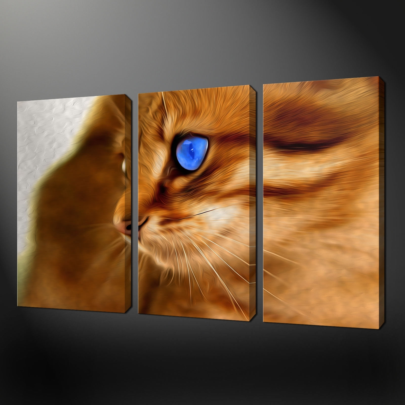 Canvas Print Pictures. High Quality, Handmade, Free Next Day Delivery. regarding Cat Canvas Wall Art (Image 9 of 20)