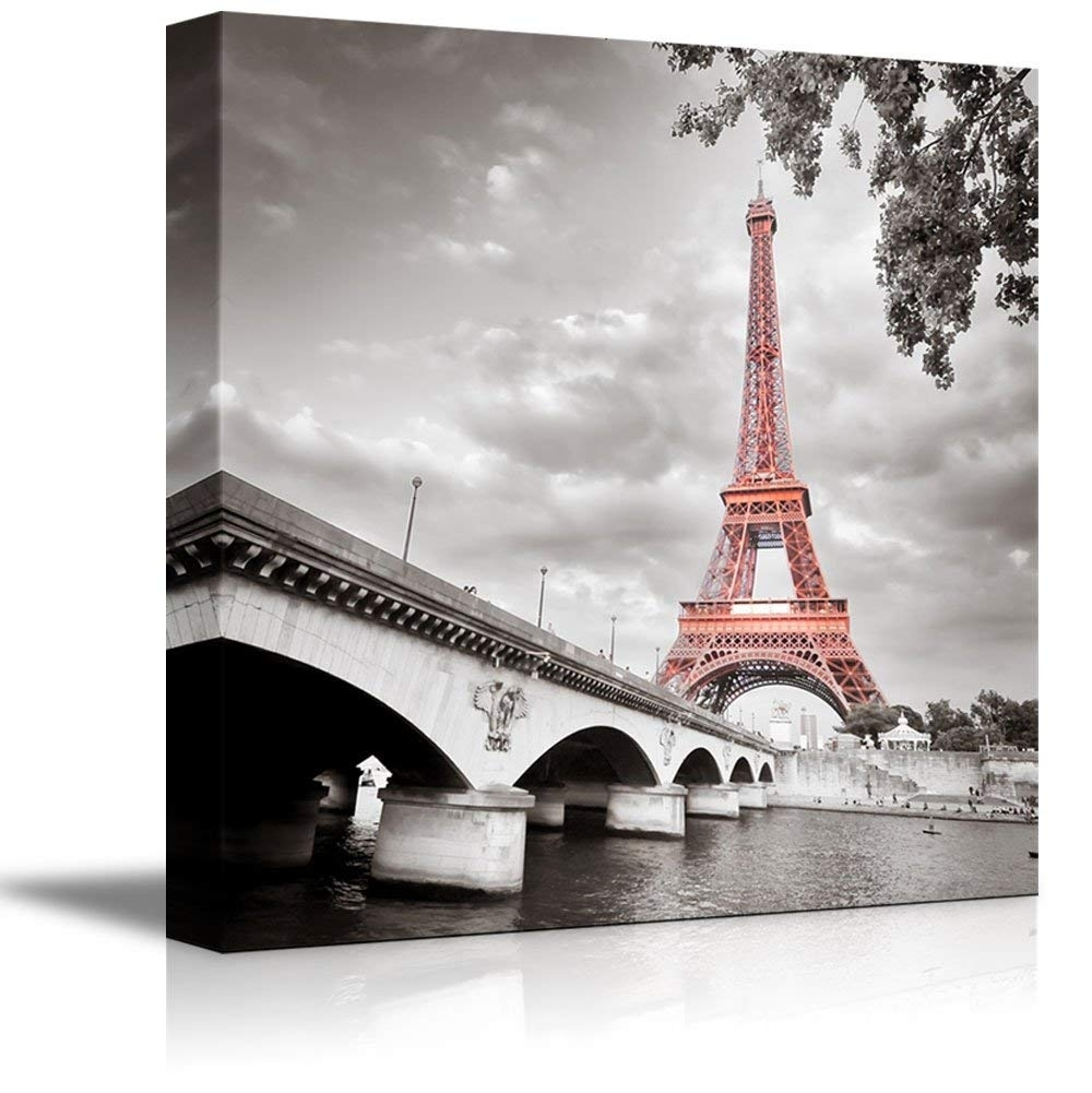 Canvas Prints Wall Art - Eiffel Tower In Paris, France |Wall Decor in Paris Wall Art (Image 8 of 20)