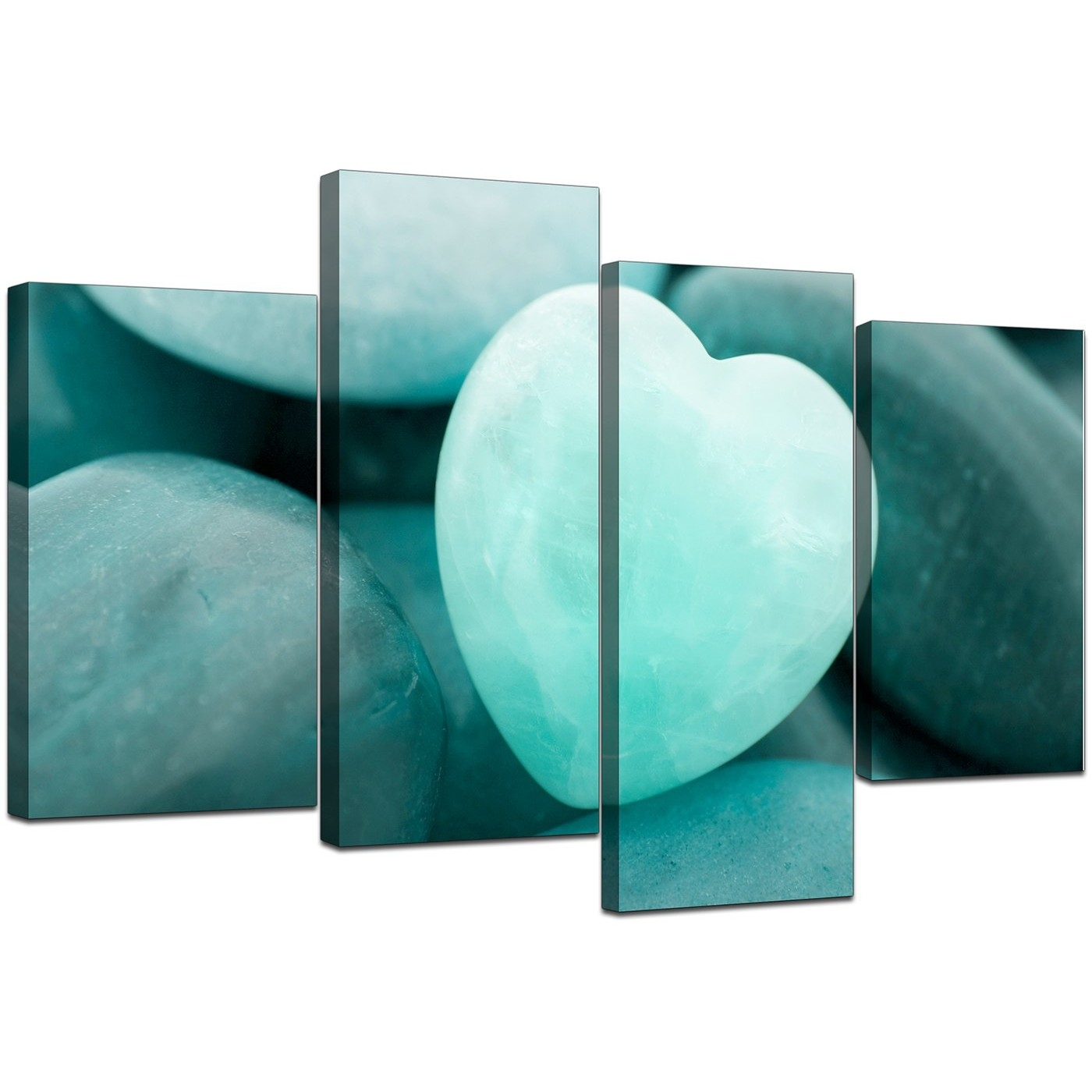 Canvas Wall Art Of Heart In Teal For Your Bedroom in Teal Wall Art (Image 6 of 20)