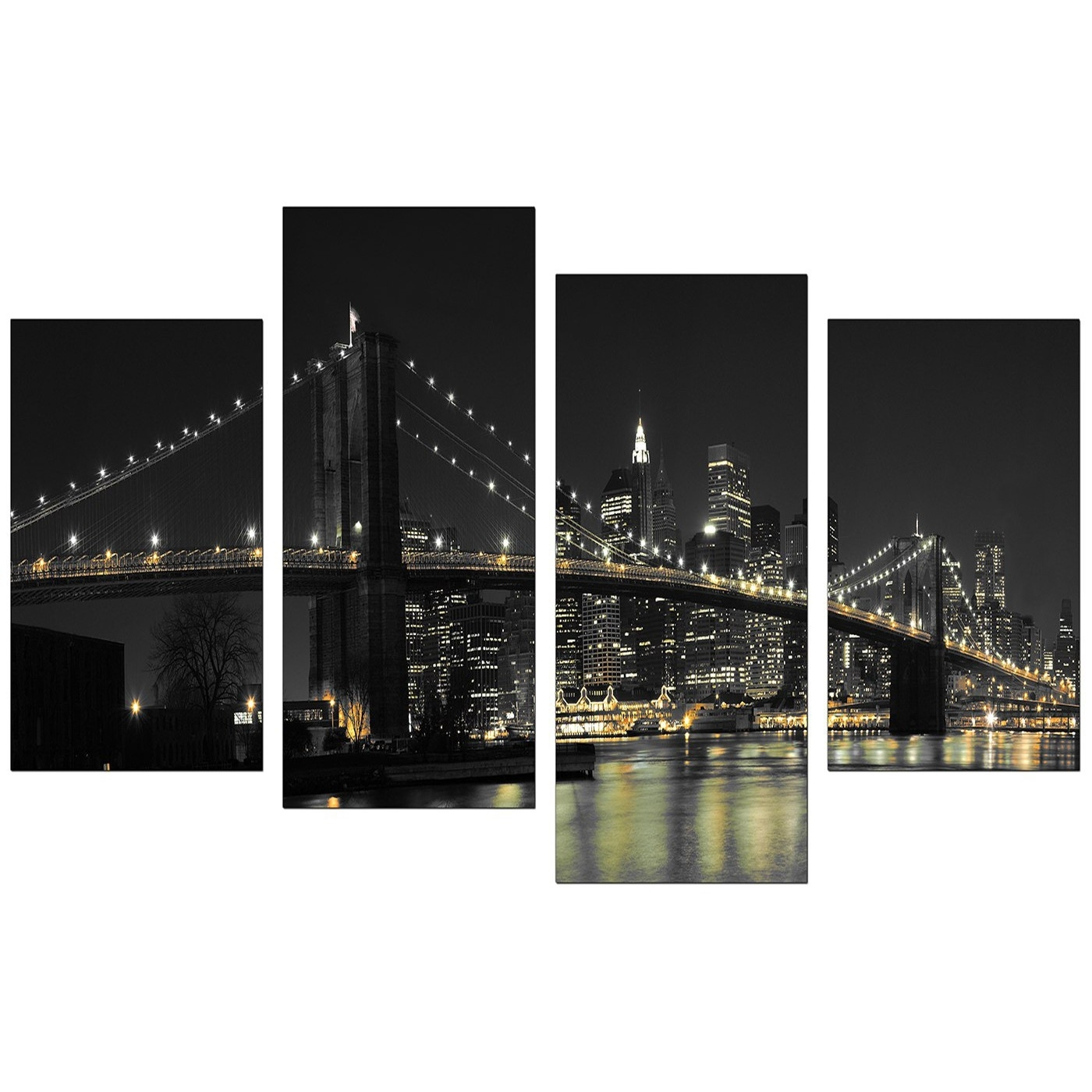 Canvas Wall Art Of New York For Your Office – 4 Part Throughout New York Canvas Wall Art (View 3 of 20)