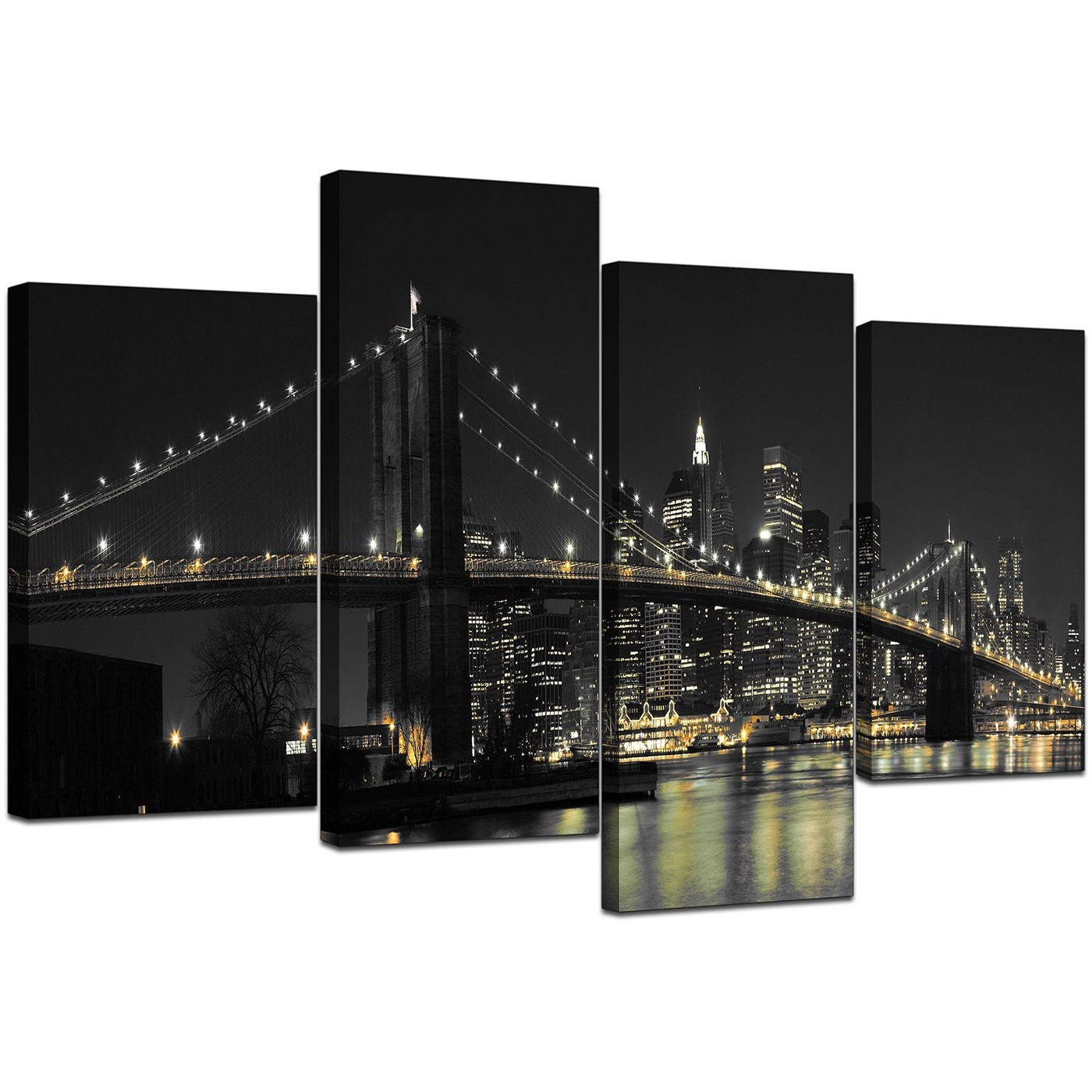 Canvas Wall Art Of New York For Your Office - 4 Part with New York City Wall Art (Image 7 of 20)