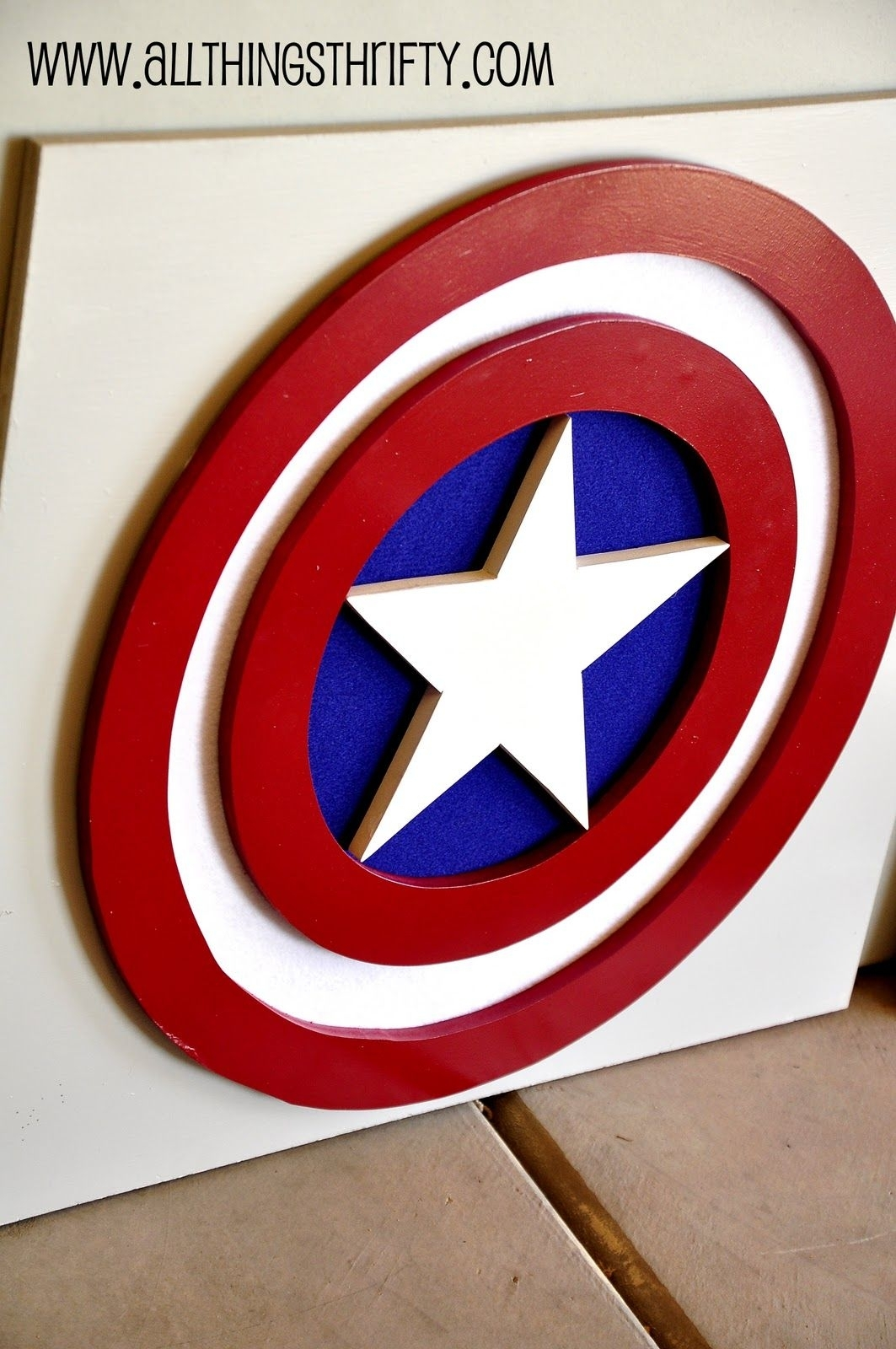 Captain America Wall Art, Part Three Of Benson's Room! | Super Hero regarding Captain America Wall Art (Image 8 of 20)