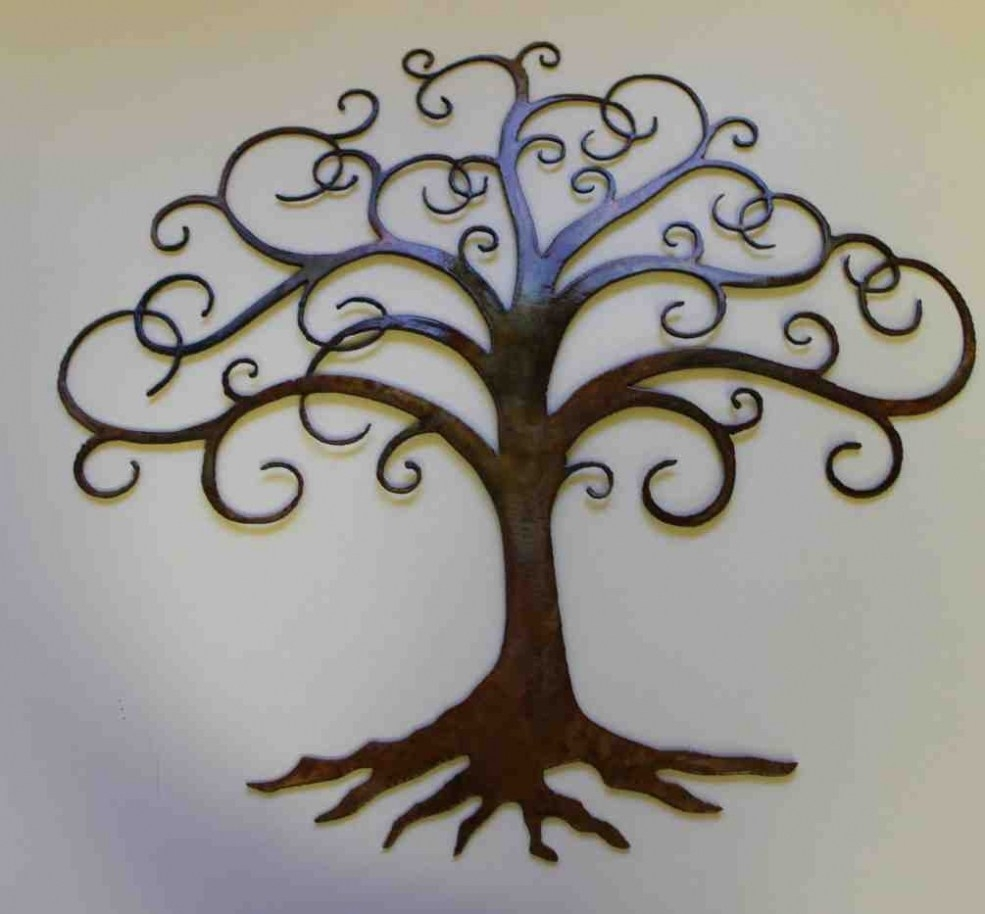 Captivating Decorative Outdoor Wrought Iron Wall Art Walls Decor in Iron Wall Art (Image 6 of 20)