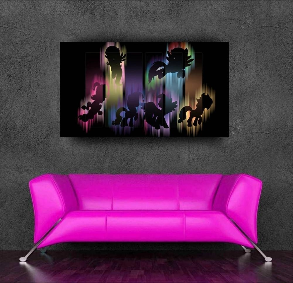 Cartoon Poster My Little Pony 3d Wall Sticker For Kids Room Decor In My Little Pony Wall Art (View 7 of 20)