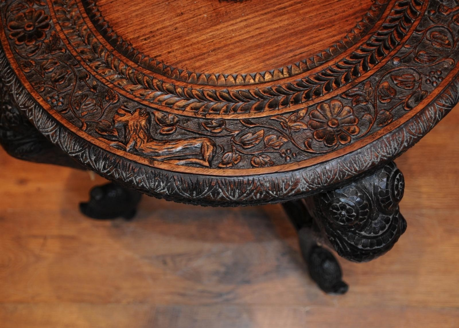 Carved Round Coffee Table | Revolutionhr with regard to Round Carved Wood Coffee Tables (Image 4 of 30)