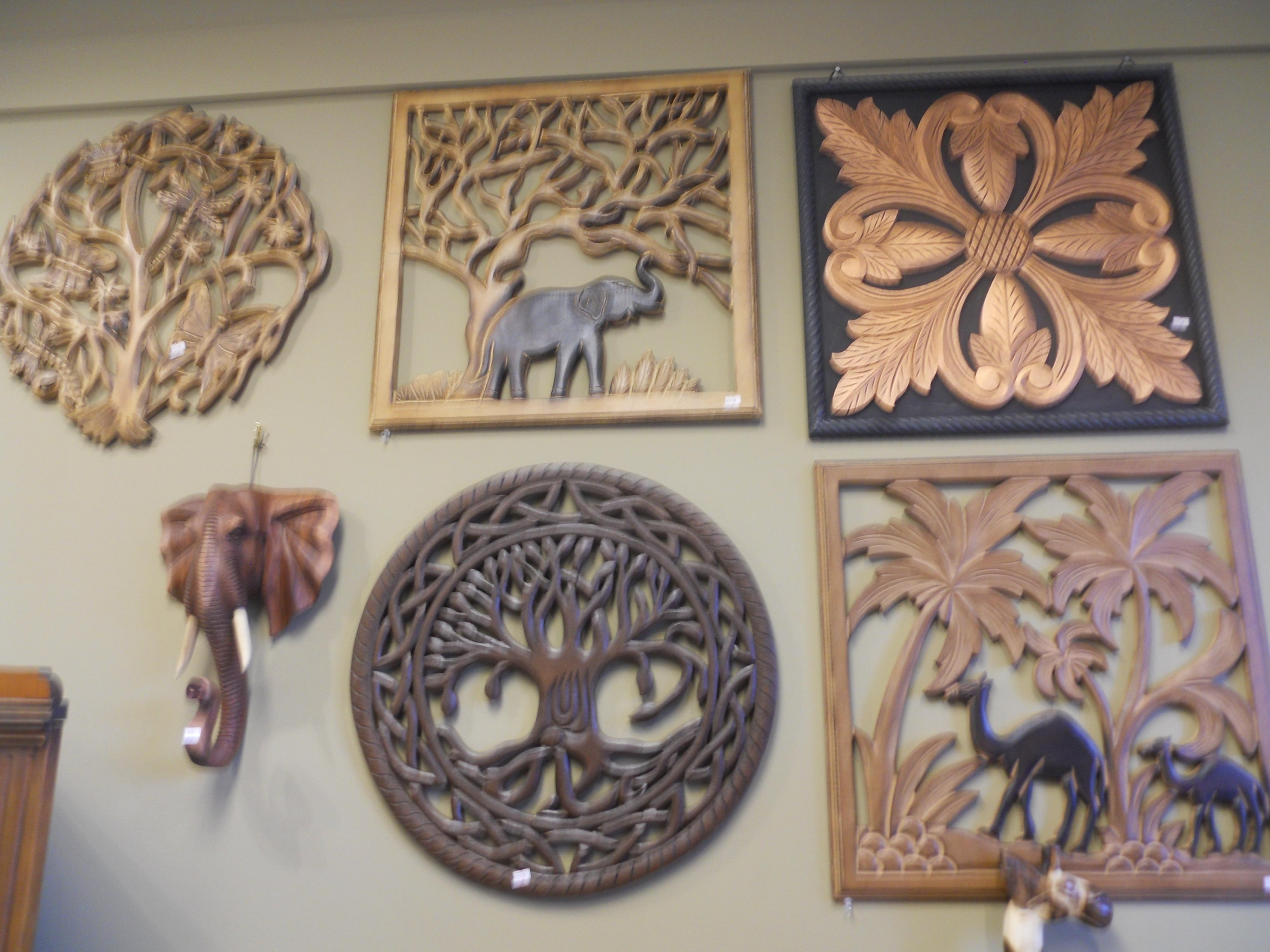 Carved Wood Wall Art Amusing Pair Of Wall Art Panel Wood Carving in Carved Wood Wall Art (Image 6 of 20)